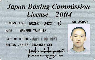 プロボクシングライセンス