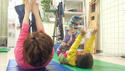 親子でトレーニング